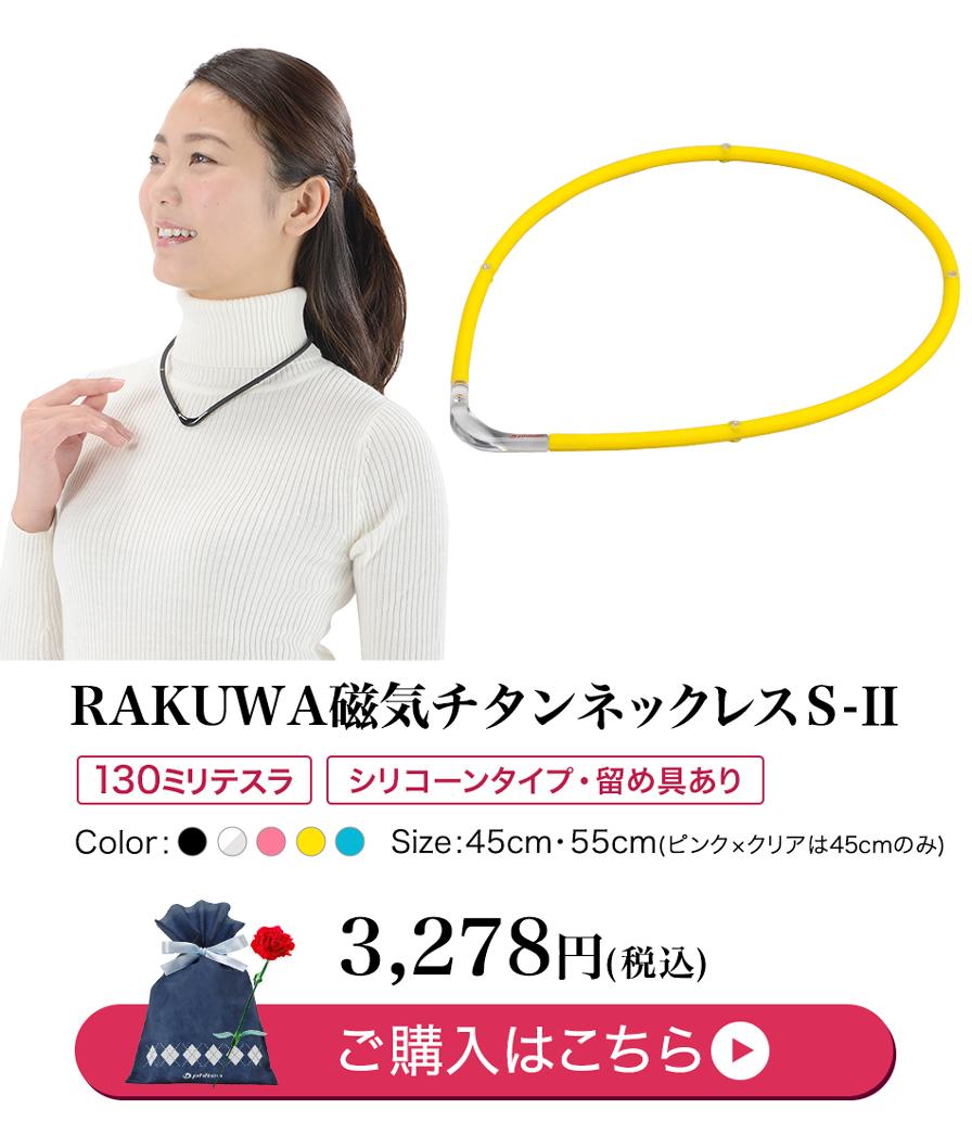 RAKUWA磁気チタンネックレスS-II