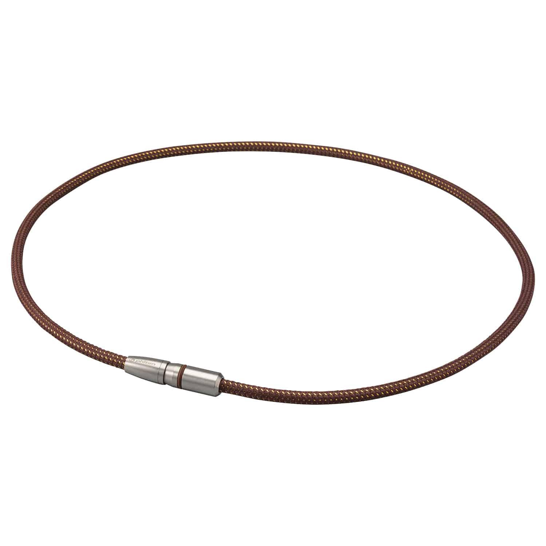 【phiten(ファイテン)公式通販サイト】【送料無料】  RAKUWA磁気チタンネックレス BULLET ブラウン/ゴールド 50cm 0217TG738153