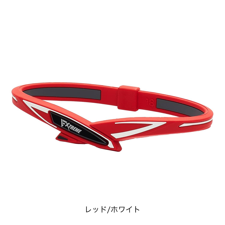 【phiten(ファイテン)公式通販サイト】 RAKUWAブレス EXTREME クロス レッド/ホワイト 16cm 0318TG788125