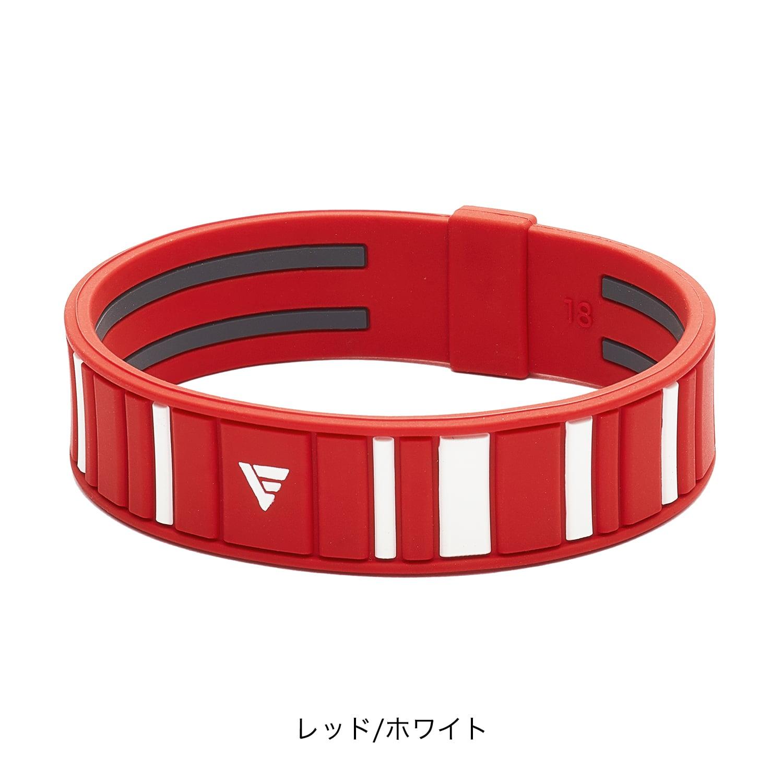 【phiten(ファイテン)公式通販サイト】 RAKUWAブレス EXTREME ボーダー レッド/ホワイト 16cm 0318TG791125