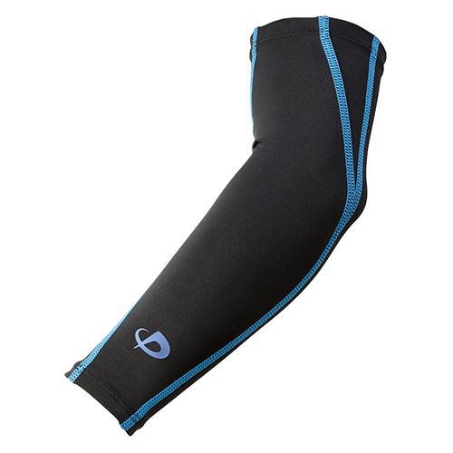【phiten(ファイテン)公式通販サイト】 スポーツスリーブX30 腕用(2枚入) ブラック×ブルー L 0414SL535305
