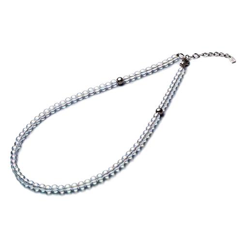 【phiten(ファイテン)公式通販サイト】【送料無料】 チタン水晶ネックレス(+5cmアジャスター) (5mm) 50cm 0515AQ814053